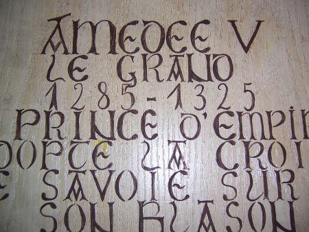 amedee 5 adopte croix de savoiie